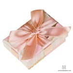 Small box with a gift tied up by a beautiful bow