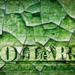 cracked dollar banknote