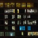 Windows of office are shone LOVE