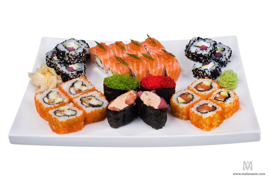 фотосъемка еды блюд для меню, суши