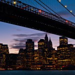 Бруклинский мост ночью (Brooklyn Bridge)