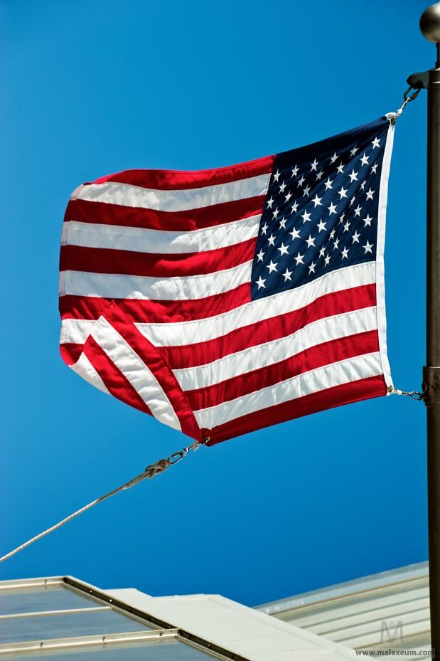 Нью Йорк достопримечательности - Американский флаг