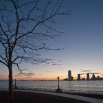 Закат в Бэттери парк сити (Battery Park City)
