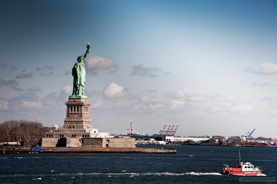 Нью Йорк достопримечательности— 7 день. Паром Статен-Айленд Ферри и  Статуя свободы в нью-йорке