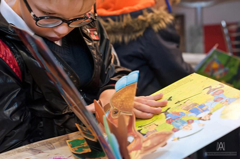 Репортаж Книжки для слепых детей