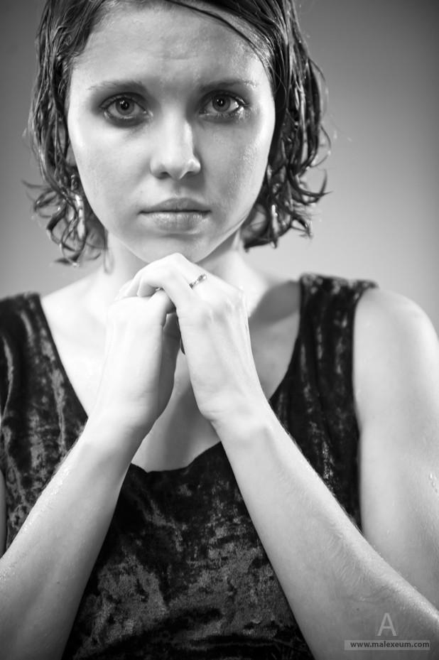 Портретная фотосъемка - слезы.