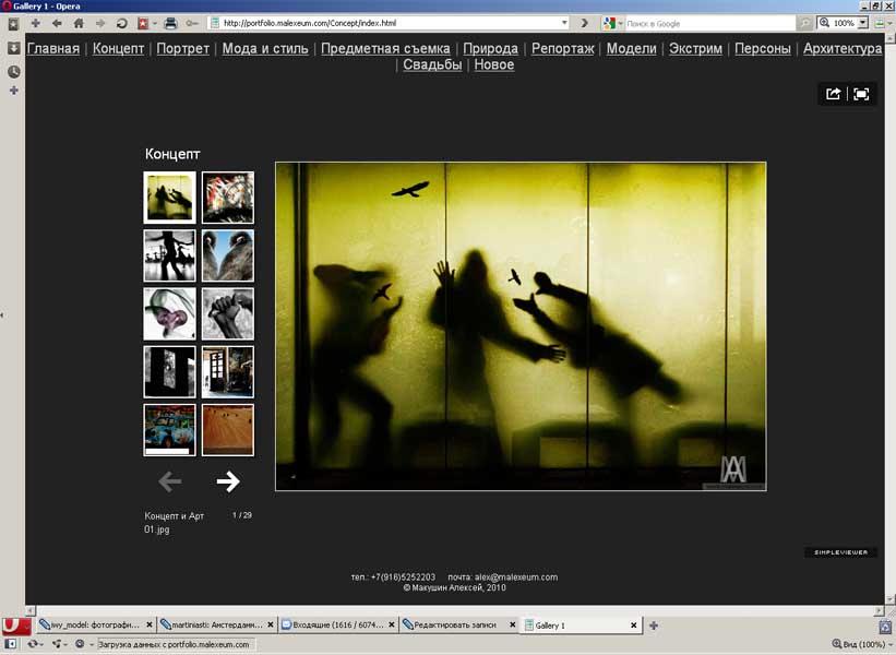 Флеш галерея на сайт или как создать флеш галерею быстро и бесплатно.