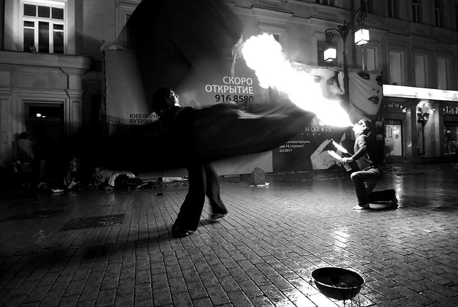 Огненное шоу - фотографии