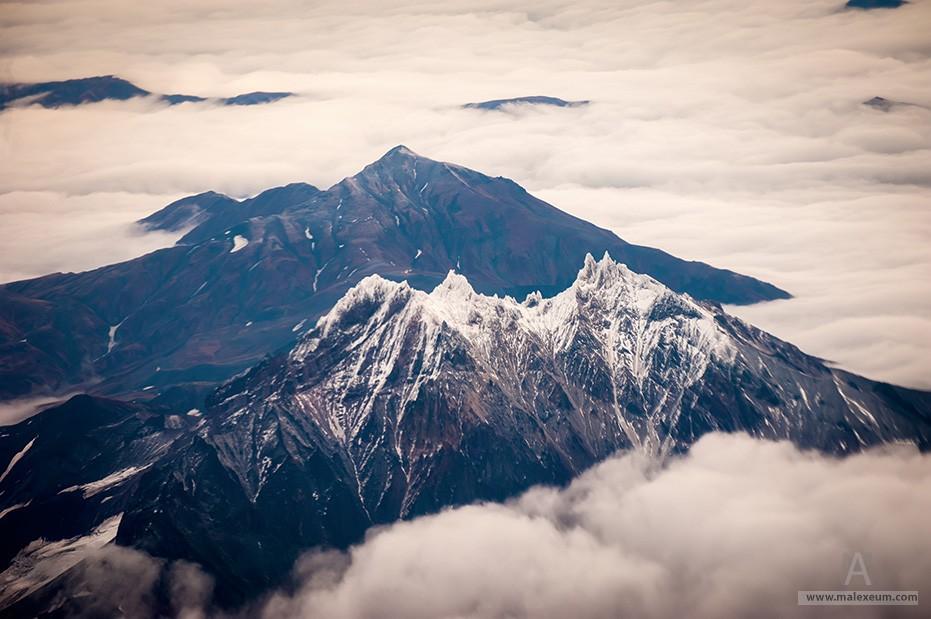 Вулканы Камчатки с воздуха