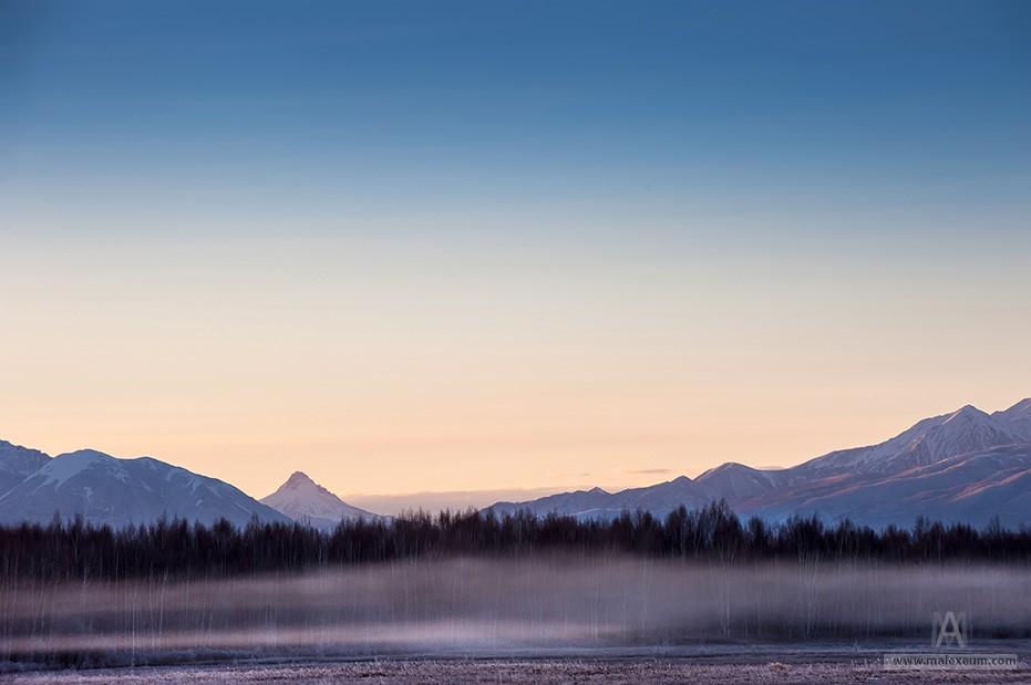 Туманное утро на Камчатке