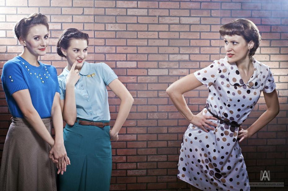 Девочки— фотосессия в стиле винтаж