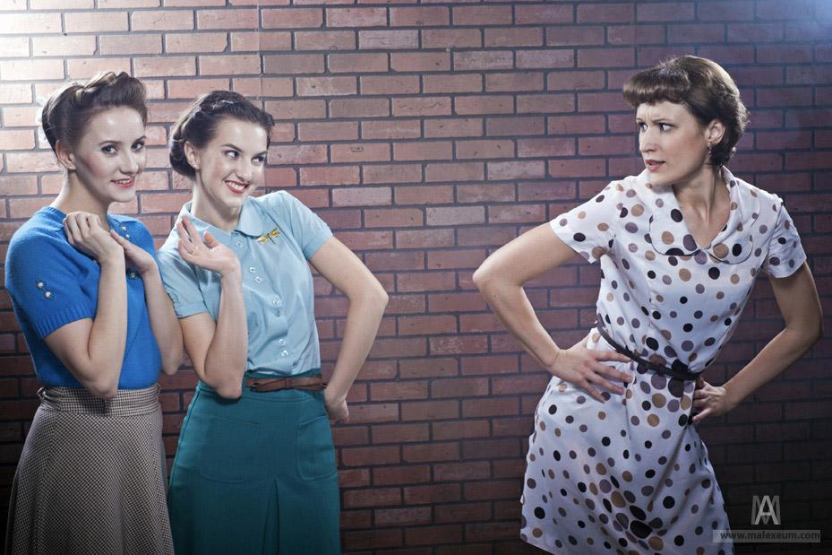Девочки - фотосессия в стиле винтаж