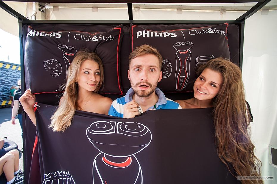 Фотосъемка на фестивале Faces&Laces для стенда Philips