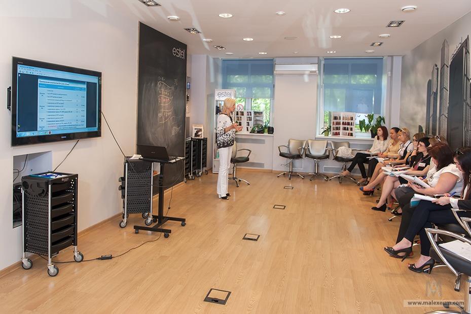 Студия Estel - репортажная фотосессия обучения в академии красоты