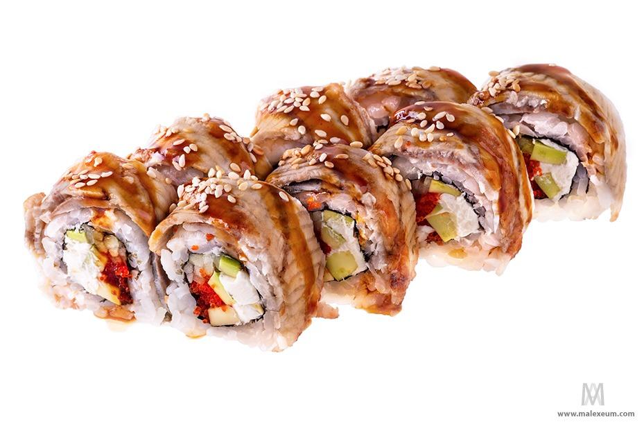 Фотосъемка суши и роллов для книги рецептов.