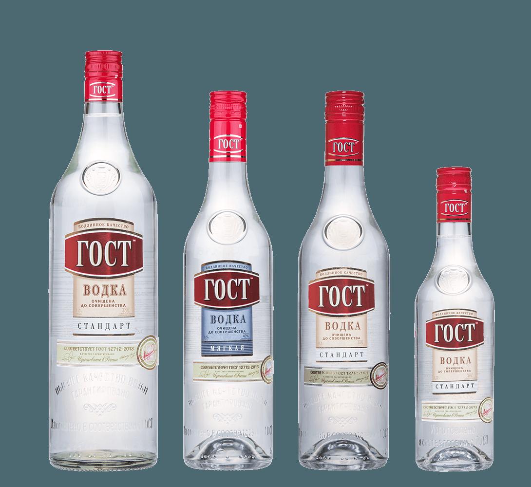 Рекламная фотосъемка водки ГОСТ