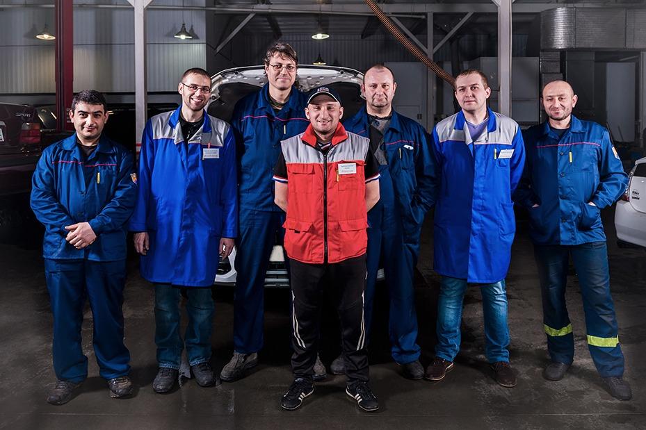 Фотосъемка сотрудников автосервиса